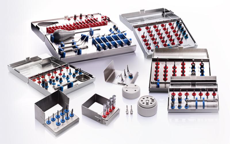 sistema de cajas para cirugías de implantes dentales